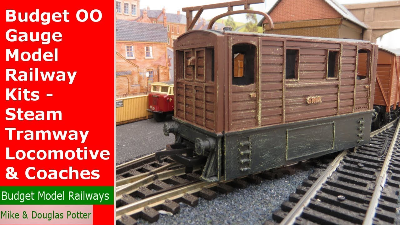 Budget OO Gauge Model Railway Kits - Steam Tramway Locomotive & Coaches -  3D Printed Kits