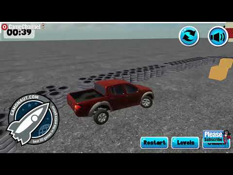3D Truck Challenge Arena / Car Driving Skills 3D Game / Browser Flash Games / Gameplay Video