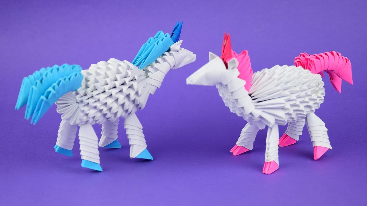 How to Make a Paper Unicorn - Easy Tutorials - YouTube | Origami ... | 720x1280