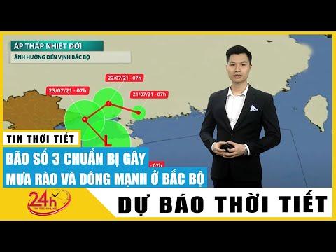 Dự báo thời tiết ngày 22-23/7, bão số 3 Cempaka suy yếu thành áp thấp, Hà Nội mưa lớn kèm lốc sét