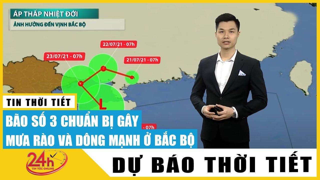 Dự báo thời tiết ngày 22-23/7, bão số 3 Cempaka suy yếu thành áp thấp, Hà Nội mưa lớn kèm lốc sét   Thông tin thời tiết hôm nay và ngày mai