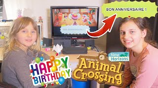 [SWITCH] HAPPY BIRTHDAY ATHENA SUR ANIMAL CROSSING NEW HORIZONS - STUDIO BUBBLE TEA GAMING