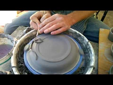 Best Way to Trim the Bottom of a Plate on the Pottery Wheel