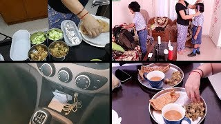 Indian mom busy morning routine | kids school, morning breakfast, lunchbox preparation