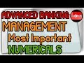 Advanced Banking Management Important Numericals GDP Cost Factor, Debt Equity Ratio, Elasticity