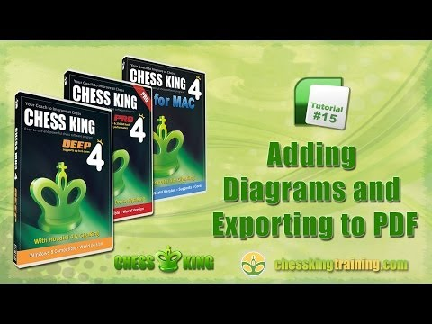 Chess King 4 Tutorial 15 - Diagrams and Export to PDF in Chess King 4 for PC/Mac