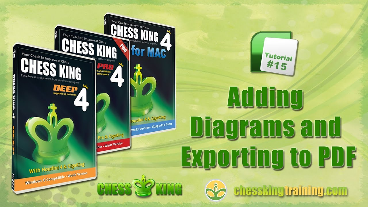 Chess king 4 tutorial 15 diagrams and export to pdf in chess.