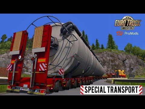 ETS2 I Special Transport I Big Stars ★ MEGA Silo Long Trailer ★ #669 ProMods Tour [Deutsch/HD]