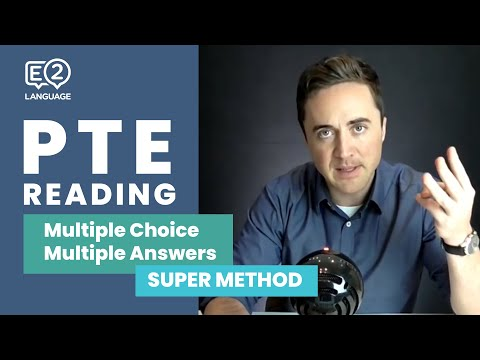 PTE Reading: Multiple Choice, Multiple Answers | SUPER METHOD!