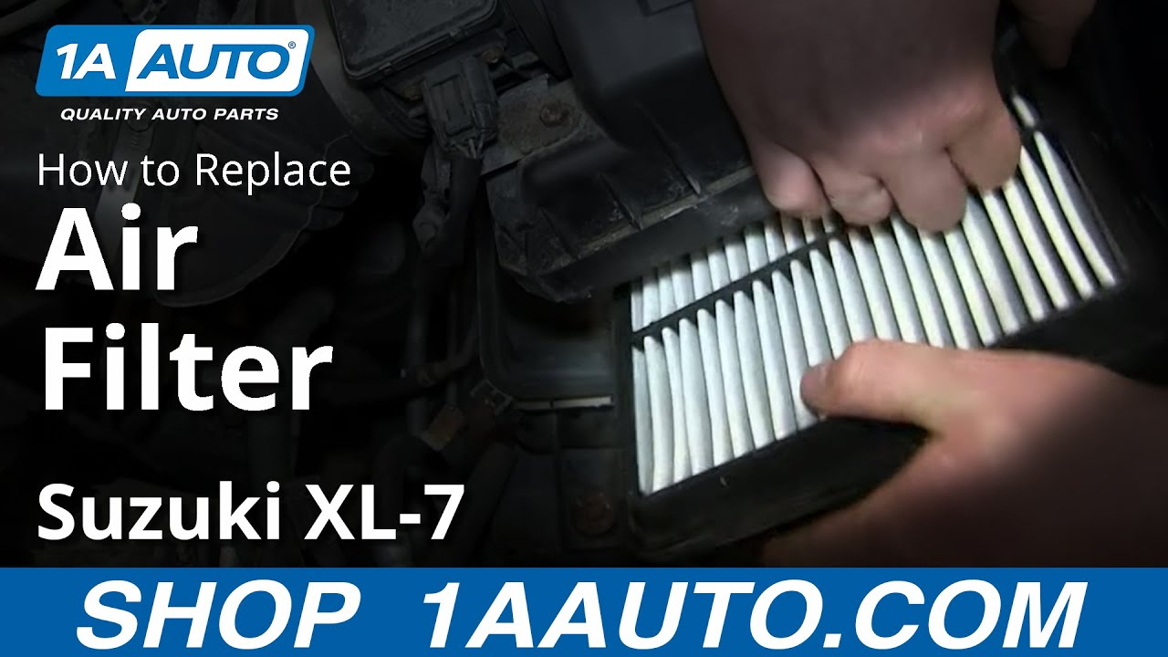 How To Install Replace Engine Air Filter 2002 03 Suzuki Xl