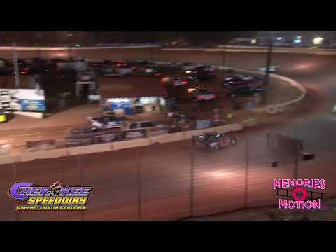 Car goes over the Wall at Cherokee Speedway WOO Mike Duvall Memorial Race 2019