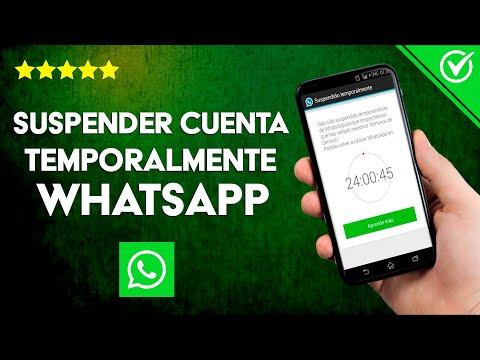 Cómo Suspender o Desactivar una Cuenta de WhatsApp Temporalmente