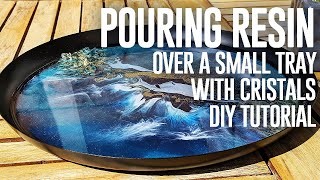 Decorative tray Resin | Cristals & cells DIY + TUTORIAL