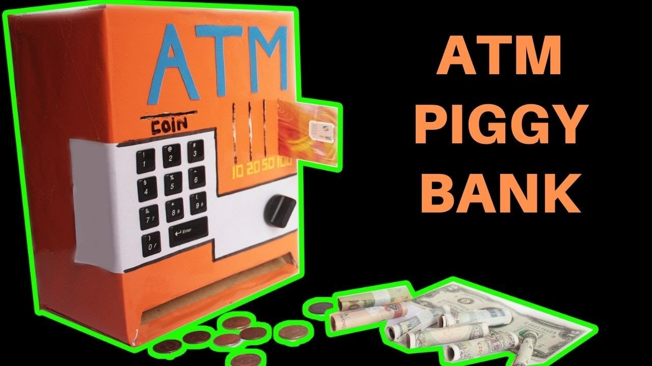 how to make an atm piggy bank at home just5mins 2 doovi