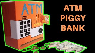 How to make an ATM PIGGY BANK at Home   Just5mins #2 thumbnail