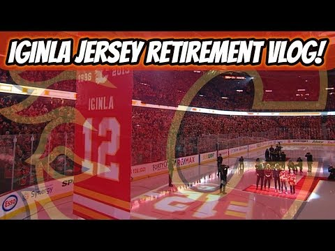 Jarome Iginla Jersey Retirement Night VLOG! | Auddie James