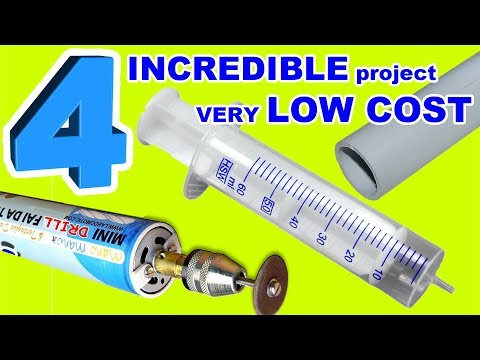 4 INCREDIBLE project DIY VERY low cost