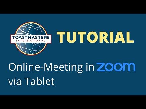 Zoom Erklärvideo für Tablets