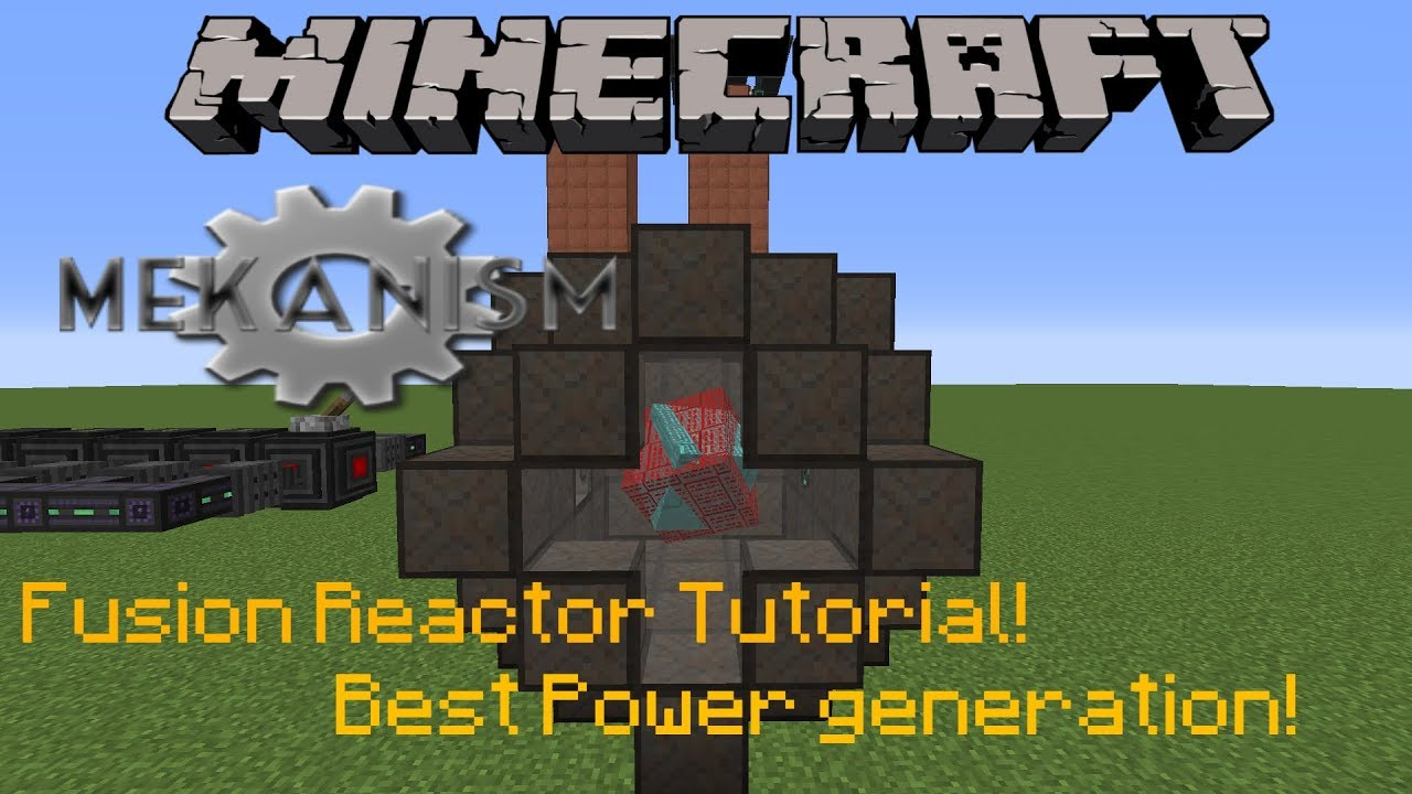 Minecraft 1 12 2 | Mekanism Fusion Reactor Tutorial! | Best power  generation EVER!
