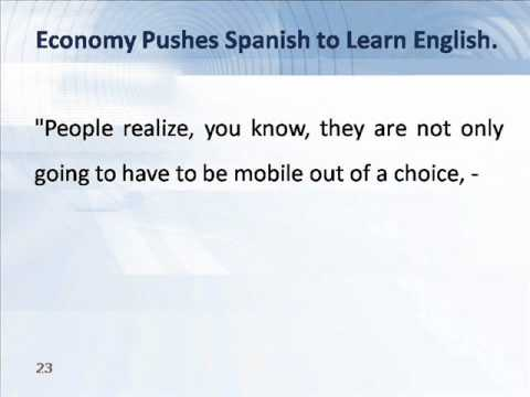 Economy Pushes Spanish to Learn English.wmv
