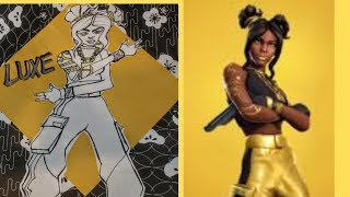 How To Draw Fortnite Skin LUXE