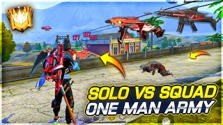 Insane Solo Vs Squad Ranked Game Play with Evo Mp40 & Megalodon Scar - Garena Free Fire