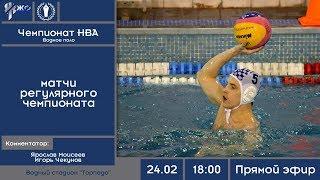 Водное поло. Чемпионат НВА 2018-2019. Матчи 24.02