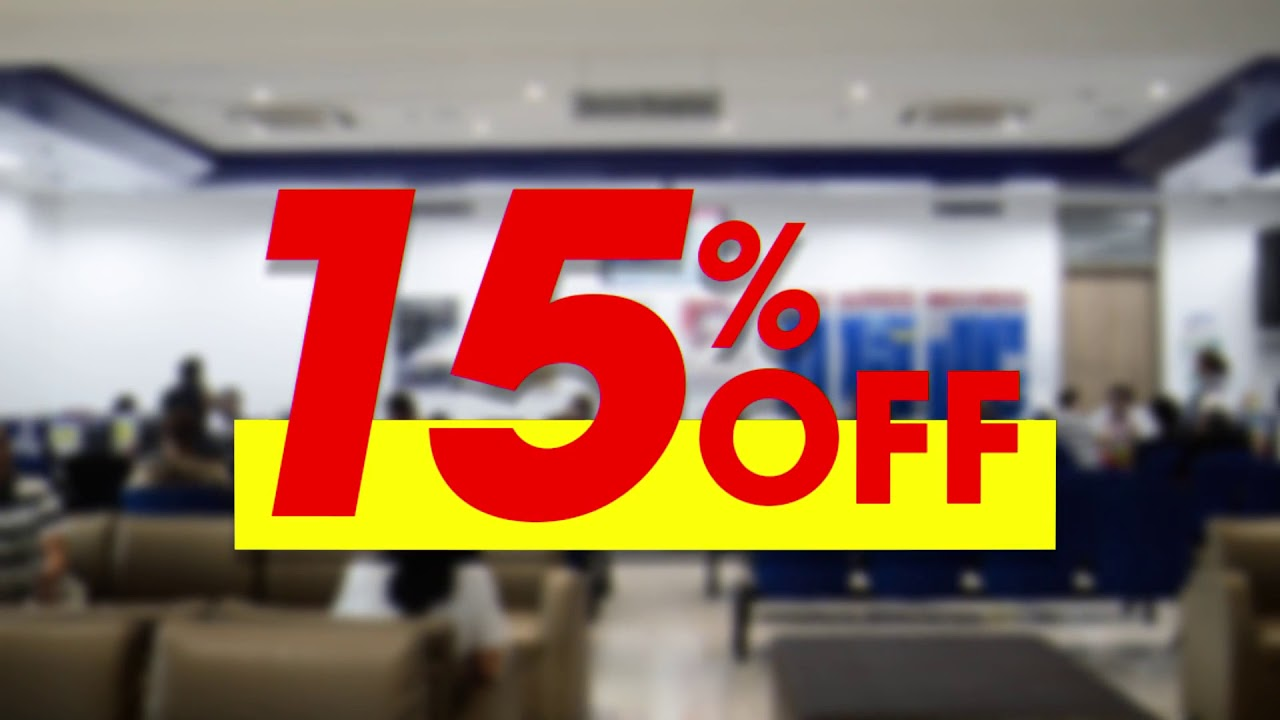 First Time Customer 15% Off on Service