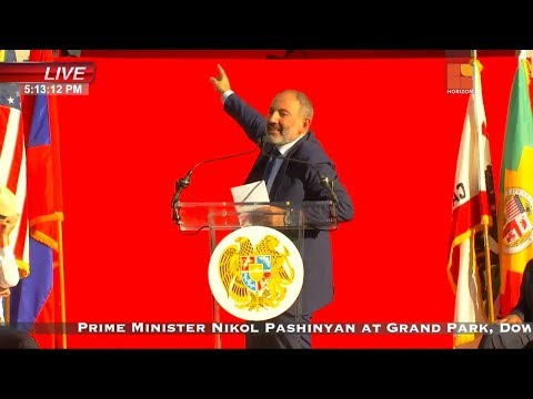 WATCH LIVE: Prime Minister Nikol Pashinyan At Grand Park, Downtown Los Angeles