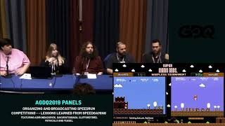 AGDQ 2019 Panels: Organizing Speedrun Competitions -- Lessons Learned From SpeedGaming