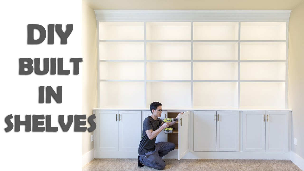 Diy Built In Shelves Library Cabinets