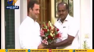Kumaraswamy meets Rahul Gandhi over reports of JDS Congress rift in Karnataka