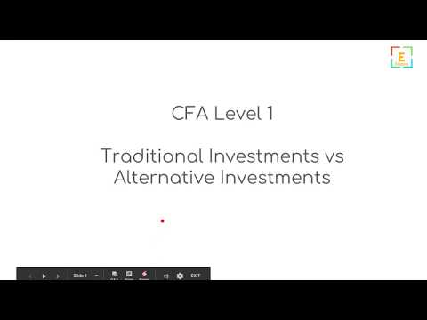 Alternative Investments vs Traditional Investments