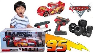 NEW!!! Disney Cars Toys LIGHTNING MCQUEEN Build To Race RC Cars Monster Truck Toy Review