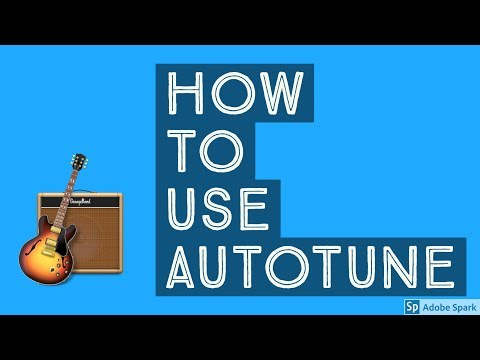 how to - AUTOTUNE in GARAGE BAND - Mac