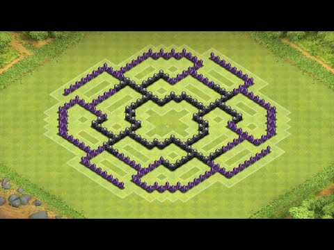 Clash of Clans Epic TH8 Farming Base (The Octagon)