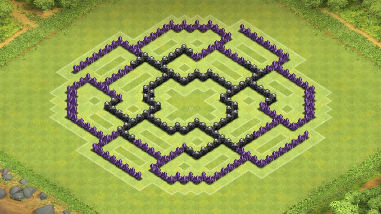 Clash Of Clans Epic Th8 Farming Base The Octagon Youtube