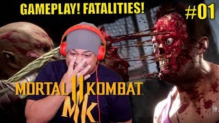 OMG THESE FATALITIES AND X-RAYS ARE CRAZY!!!! [MORTAL KOMBAT 11] [GAMEPLAY!]