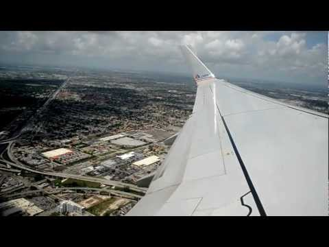 American Airlines 737-800 Takeoff From Miami 08R. Great Views [HD]