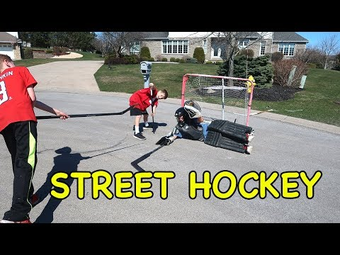 Street Hockey Shoot Out!!  Kids Hockey