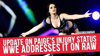 Update On Paige's Injury Status, WWE Addresses It On RAW