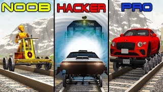NOOB vs PRO vs HACKER #22 - Beamng drive