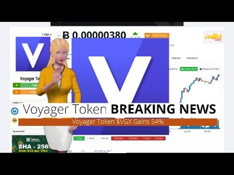 Cryptocurrency Voyager Token Vgx Rose 54 In The Past 24 Hours Youtube