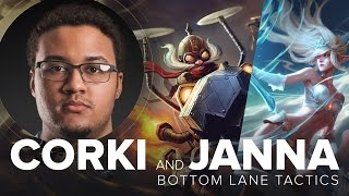 Corki ADC and Janna Support duo bottom guide with CLG Aphromoo S5   League of Legends