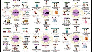Useful PREPOSITIONAL VERBS with FOR, FROM, IN and ABOUT | Prepositions after Verbs