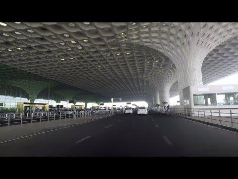 Driving in Mumbai (CSI Airport T2) - Maharashtra, India