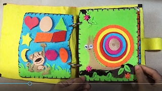 busy felt book,quiet book for child 1-3 year personalised busy book Activity felt book,quiet book for toddler girl or boy