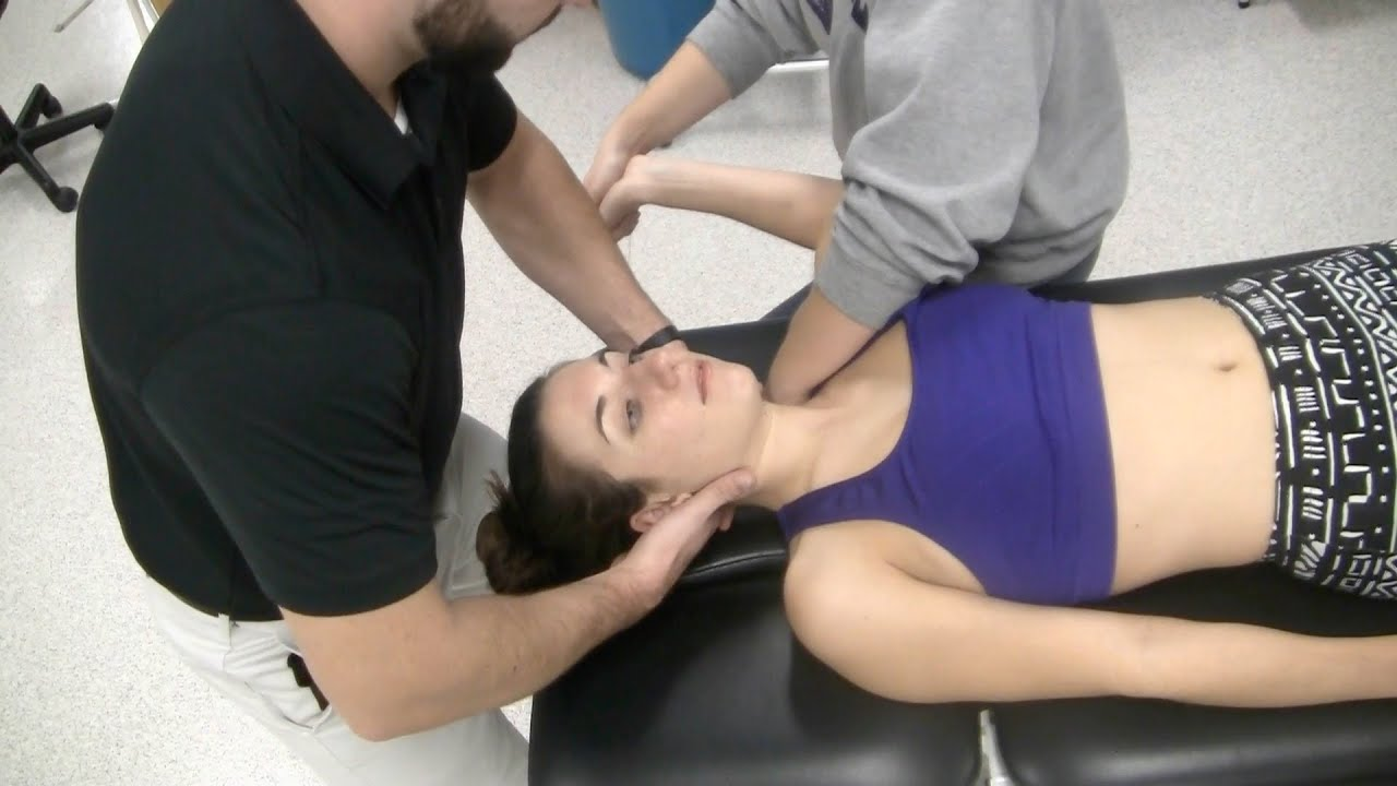 cervical lateral glides in the neurodynamic position