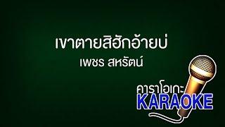 เขาตายสิฮักอ้ายบ่ - เพชร สหรัตน์ [KARAOKE Version] เสียงมาสเตอร์