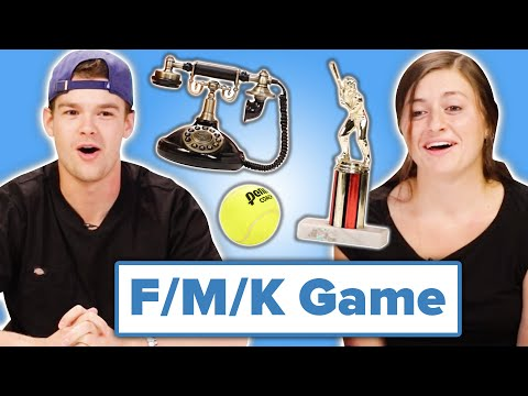 Couples Play Date, Marry or Disappear With Inanimate Objects